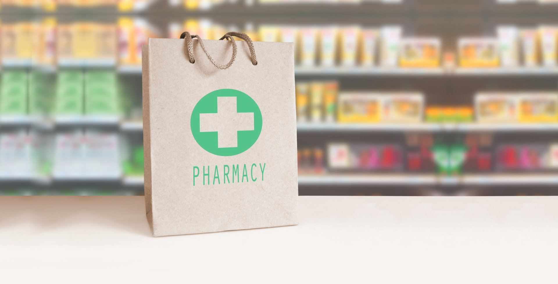 pharmacy bag in the table